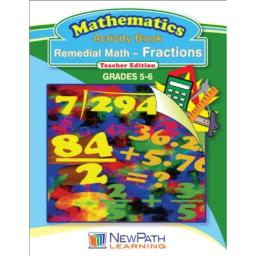 NewPath Learning Remedial Math-Fractions Reproducible Workbook, Grade 5-6