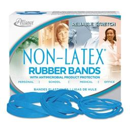 ALL42199 - Alliance Latex Free Antimicrobial Cyan Blue Rubber Bands by Alliance