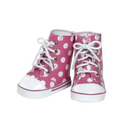 Adora Pink/White Polka Dot High Top
