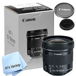 Canon 10-18mm f/4.5-5.6 IS STM Lens (New Retail Box) - W/ Free Microfiber Cleaning Cloth