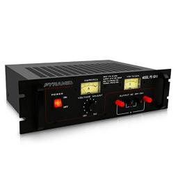 Universal Compact Bench Power Supply - 46 Amp Linear Regulated Home Lab Benchtop AC-to-DC Converter w/ 15 Volt DC 115V AC 1000W Input, Screw Type Terminal, 12V Car Cigarette Lighter - Pyramid PS52KX
