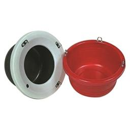 Horsemen's Pride 001 Jolly Pets Feed Tub, Red, One Size