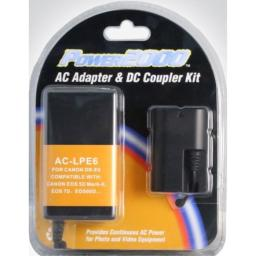 Power2000 AC Adapter & DC Coupler Kit for Canon DR-E6