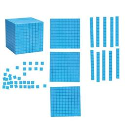 Learning Resources Giant Magnetic Base Ten, Magnetic Base Ten, Use with Magnetic Surfaces or Whiteboards, 131 Piece Set