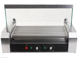 18 Hot Dog 7 Roller Grill Cooker Commercial Machine