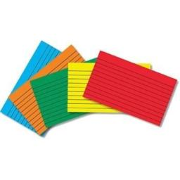 Top Notch Teacher Products TOP3662 Border Index Cards 3 X 5 Lined Primary Colors 75Ct by NT