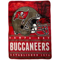 """Officially Licensed NFL Tampa Bay Buccaneers Stacked Silk Touch Throw Blanket, 60"""" x 80"""""""