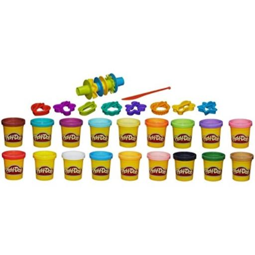 Play-Doh Super Color Kit, 18 Fun Colors, 16 Tools and Accessories 18 Fun Colors*16 Tools and Accessories*Instructions to create a colorful turtle*Great Summer Fun!