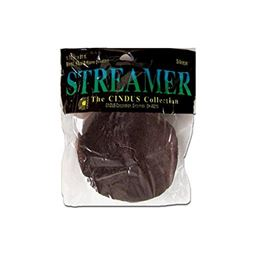 Cindus Crepe Paper Streamers brown,1.75 x 81
