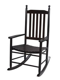 Gift Mark Adult Tall Back Rocking Chair - Espresso
