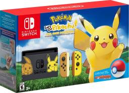 Nintendo Switch Pikachu & Eevee Edition with Pokemon: Let's Go, Pikachu! + Poké Ball Plus - Gray