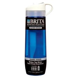 Brita Products 35808 Hard Sided Water Filter Bottle - Blue