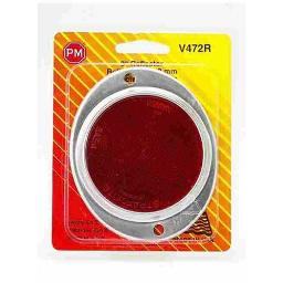 """Peterson V472r Aluminum Oval Reflector, Red, 3"""""""