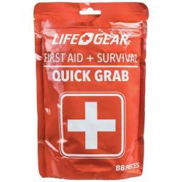 Life+gear 41-3819 88-piece quick grab first aid & survival kit 41-3819