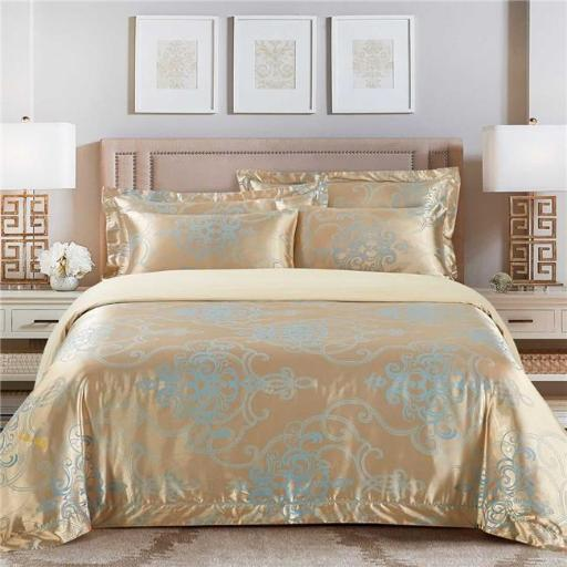 Dolce Mela DM505K Bedding - San Marino, Luxury Jacquard King Duvet Cover Set
