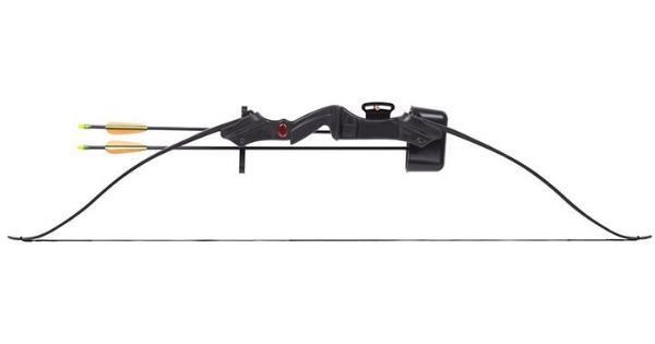 Crosman Crosman Sentinel (Black)Pre-Teen Recurve Bow W/2- 26 Arrows Adjustable Pin Sight Arm Guard thumbnail