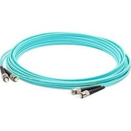Add-On-Computer Peripherals ADD-ST-ST-10M5OM3 10 m OM3 Duplex 2 Strand Laser Optimized Multi-Mode Fiber Patch Cable - Aqua