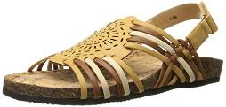 Annie Shoes Women's Sunny Flat, Natural Multi, 11 M US