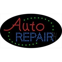Sign Store L100-1906 Auto Repair Animated LED Sign, 27 x 15 x 1 In.