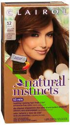 Clairol Natural Instincts Hair Color 12 Light Golden Brown (toasted Almond), Pack Of 4
