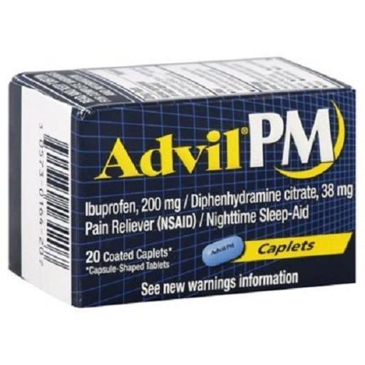 Advil PM 20-Count Pain Reliever/Nighttime Sleep-Aid Caplets