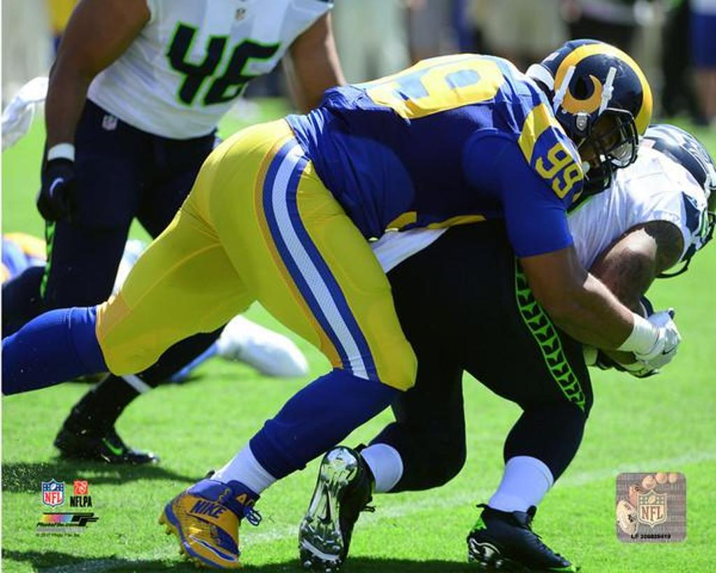 Aaron Donald 2016 Action Photo Print