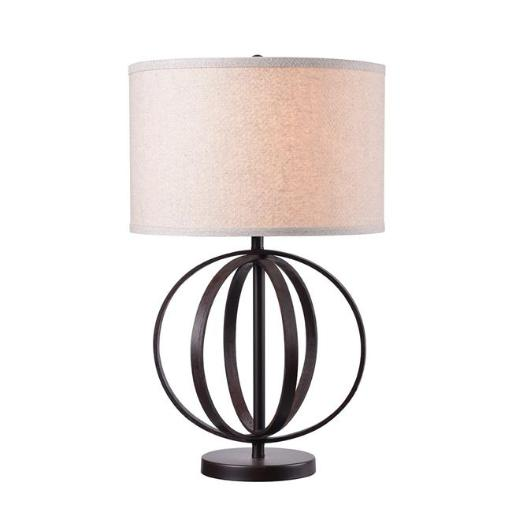 Kenroy Home 35223OBWDG 1-105W Woodward Incandescent Table Lamp, Oxford Brown Wood Grain