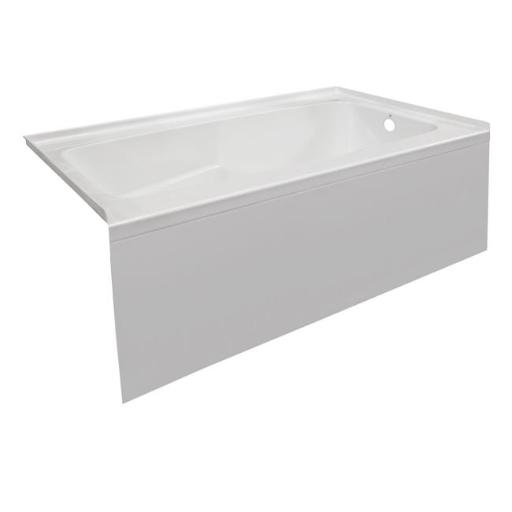 Valley Acrylic Bath PSTARK6032SKRWHT 60 x 32 in. Acrylic Contemporary Bath Tub with Smooth Integral Skirt Right Hand Drain, White