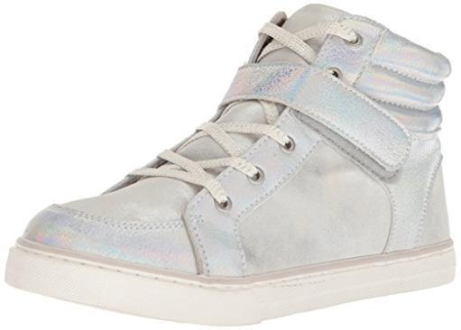 The Children's Place Kids' Sneaker,SILVER-BG HI ROCKSTAR,6 M US Little Kid Have your little one in style with shoes from The Childrens Place. Enjoy cute shoes at a value price.