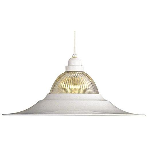 PENDANT CEILING FIXTURE WITH RIBBED GLASS, MAXIMUM ONE 150 WATT INCANDESCENT MED JOVLVW6J6DHXOLKM