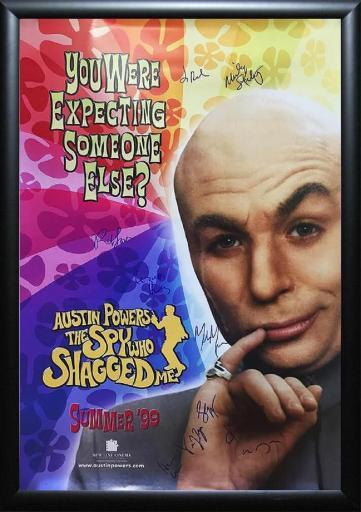 Austin Powers - The Spy Who Shagged Me - Signed Movie Poster in Wood Frame with COA