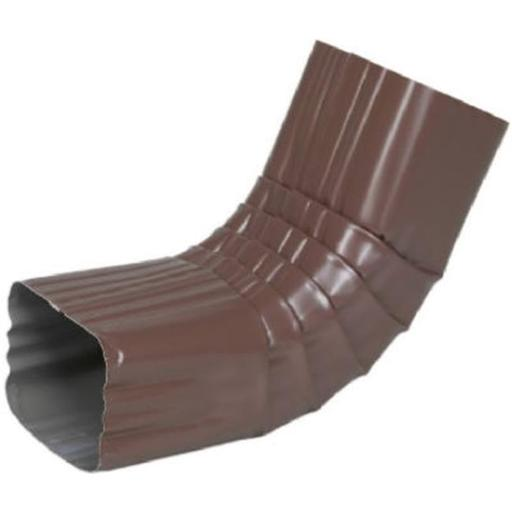 Amerimax Home Products 3326419 2 x 3 in. Brown Galvanized Steel Gutter Front Elbow, Style A