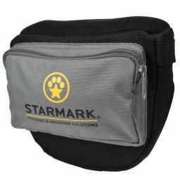 Starmark Smpttp Black/Gray Starmark Dog Pro Training Treat Pouch Black/Gray 6.75 X 10.5 X 3.5