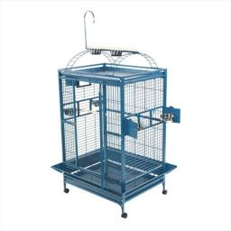 A&E Cage 8003628 White Play Top Cage With 1 In. Bar Spacing