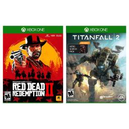 Xbox One Red Dead Redemption 2 and Titanfall 2 with Nitro Scorch Pack DLC