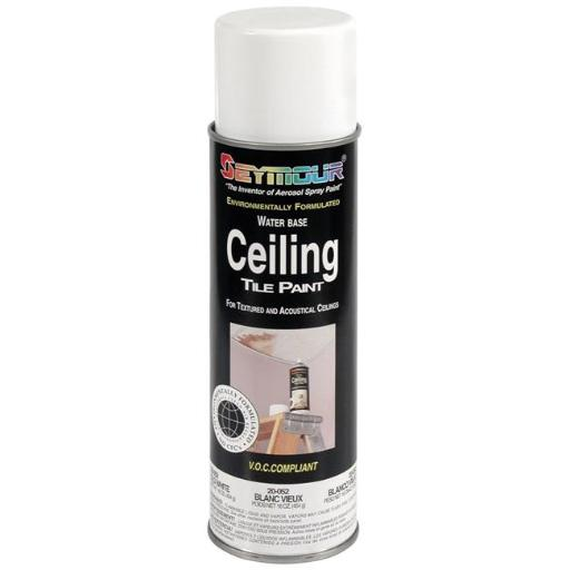Seymour of Sycamore 20-52 16 oz Ceiling Tile Paint, Old Ceiling White- Pack of 12
