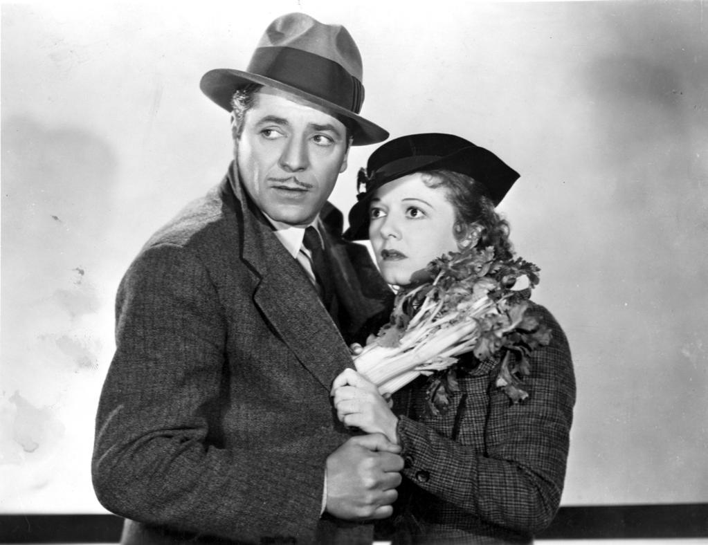 A publicity still of Janet Gaynor and a co star Photo Print