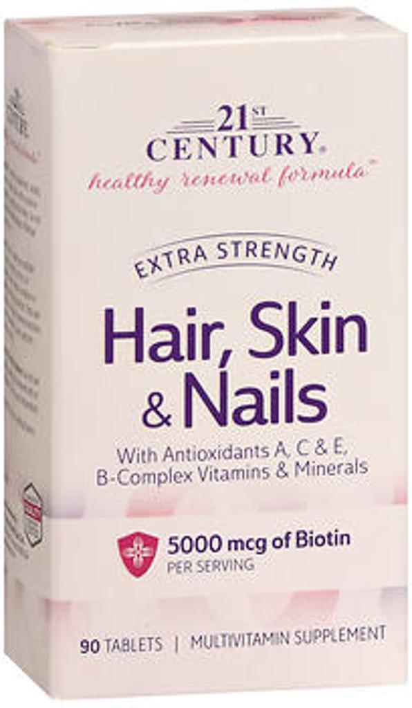 21st Century Healthy Renewal Formula Hair, Skin & Nails Extra Strength - 90 Tablets