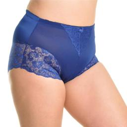 Angelina High Waist Boxer Briefs With Lace Accent Detail - 2Xl