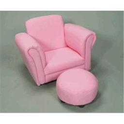 Giftmark 6715P Upholstered Rocking Chair Chair with Ottoman Pink