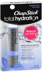 Chapstick Total Hydration Lip Care Soothing Vanilla - 12 Ct, Pack Of 4