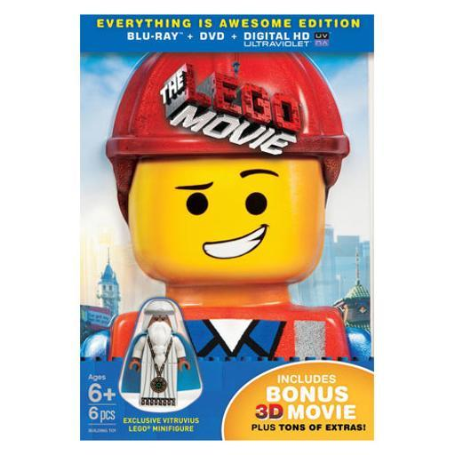 Lego movie (2014/blu-ray/dvd/3d combo/collectors ed/figure) JT3CSLCOGYFBKYB2