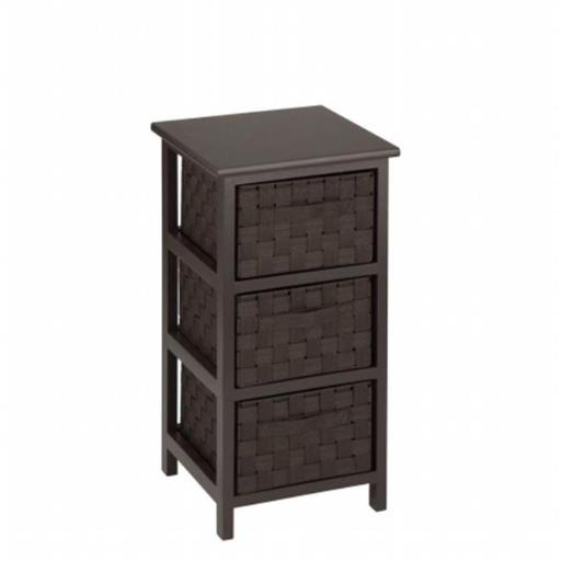 Honey-Can-Do OFC-03716 storage chest 3 Drawer, espresso