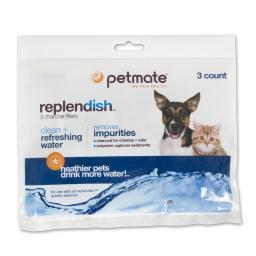 Petmate 24989 Petmate Replendish Replacement Filters 3 Pack With 1 Filter Strap 8.3 X 0.6 X 6.1