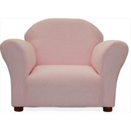 Roundy Chair Pink Ghingham