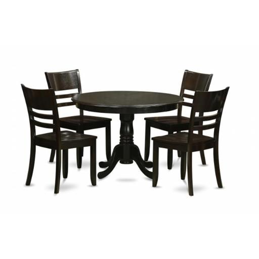 5 Piece Small Kitchen Table and Chairs Set-Dining Table and 4 Dinette Chairs