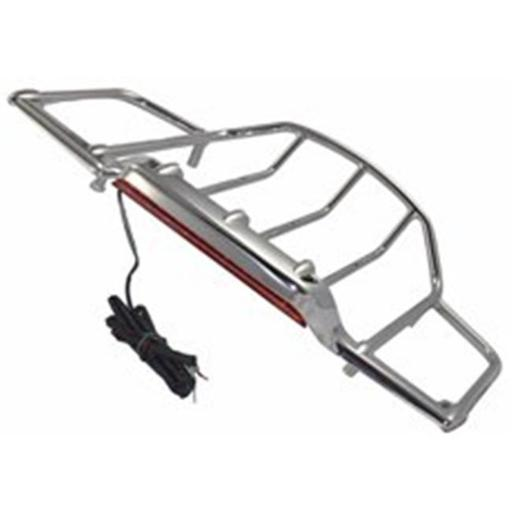 Bagger Brothers BB-STPR-LED-C Tour-Pak Luggage Rack with LED Running & Brake Light for 1987-2017 Tour-Pak Lids, Chrome XUS7PVXNVFBEXSRN