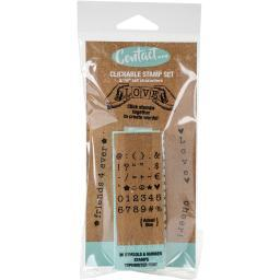 """Contact Usa Clickable Typewriter Font Stamps 3/16"""" 36/Pkg-Numbers & Symbols"""