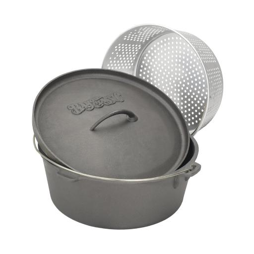 Bayou Classic 7460 Dutch Oven With Lid And Basket, 8.5 Quart