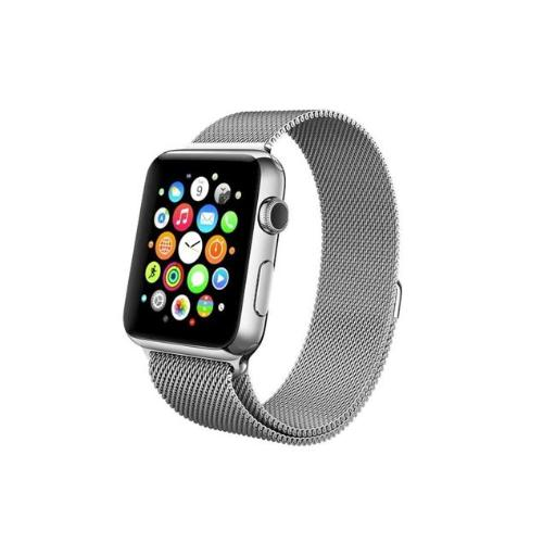 Element Works EW-AWMB38-SV 38 mm Milanese Loop Stainless Steel Band for Apple Watch Series 1 & 2 - Silver